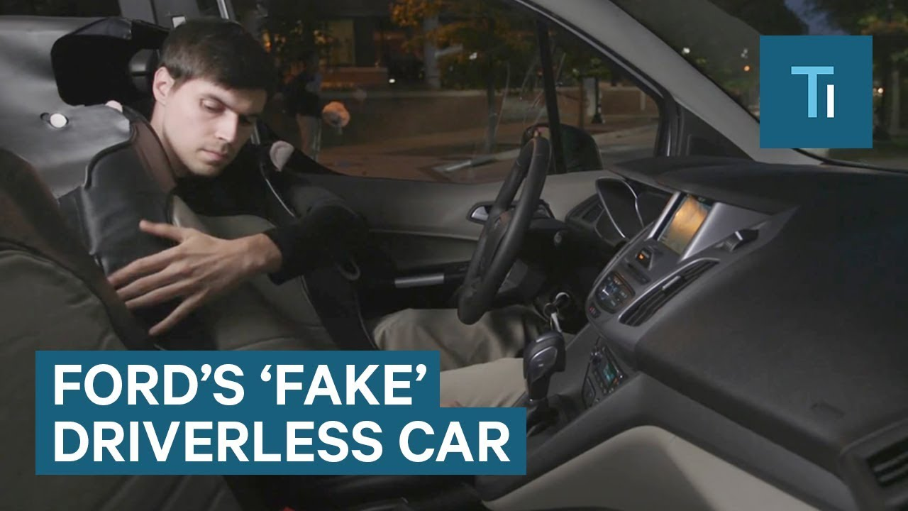 Here's why Ford made a guy dress as a seat in a 'fake' driverless car