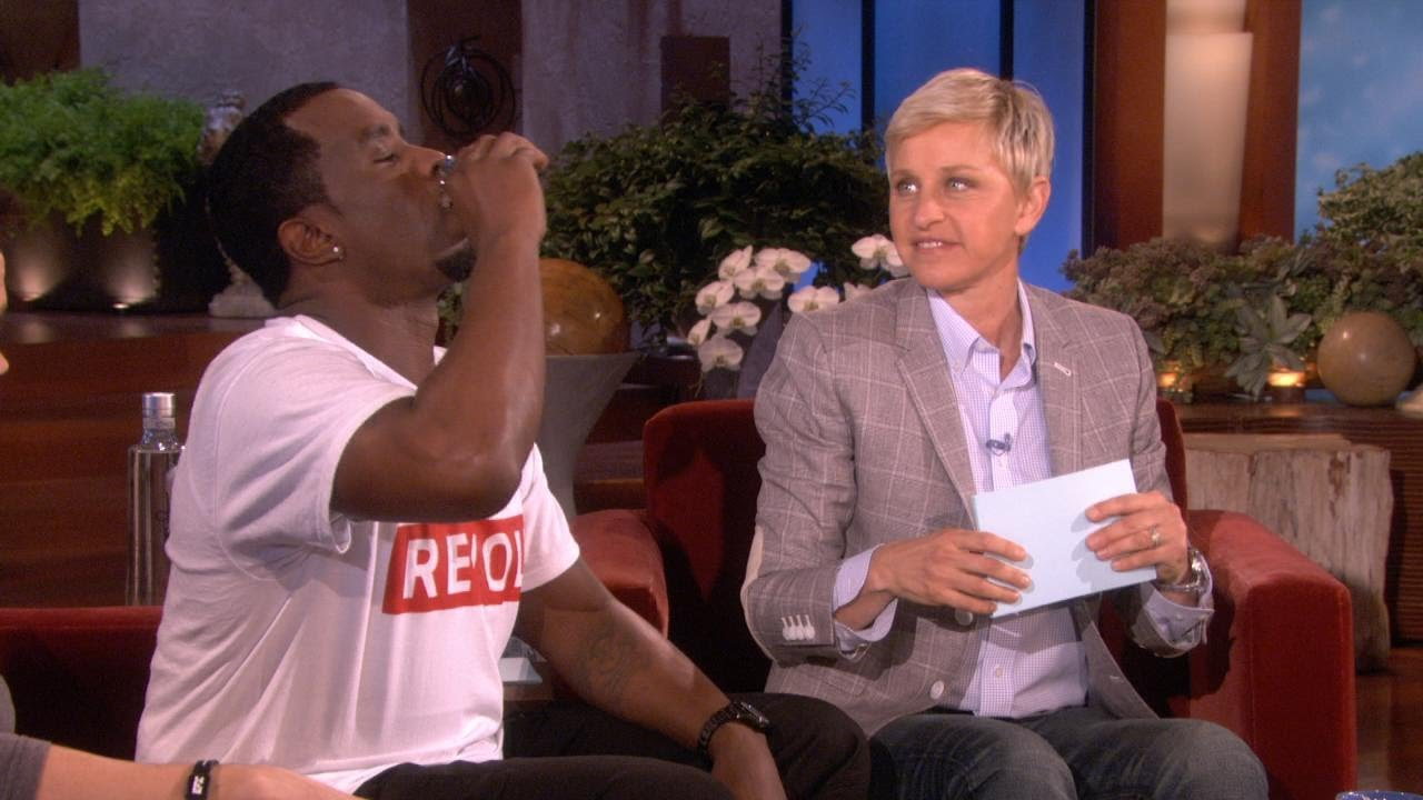 Mark Wahlberg and Diddy Play a Drinking Game