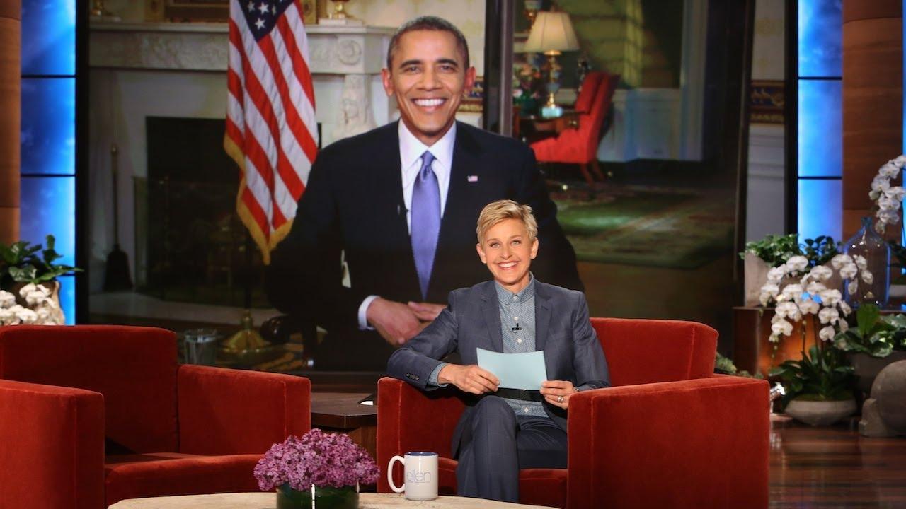 Pres. Barack Obama on Ellen Breaking His Twitter Record