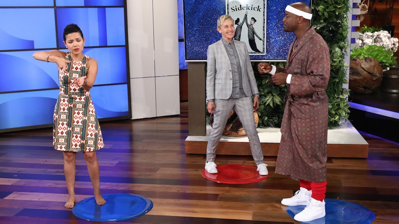 Taye Diggs Takes On the Holy 'Heads Up!' Championship