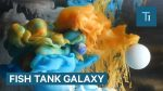 These artists create galaxies inside fish tanks