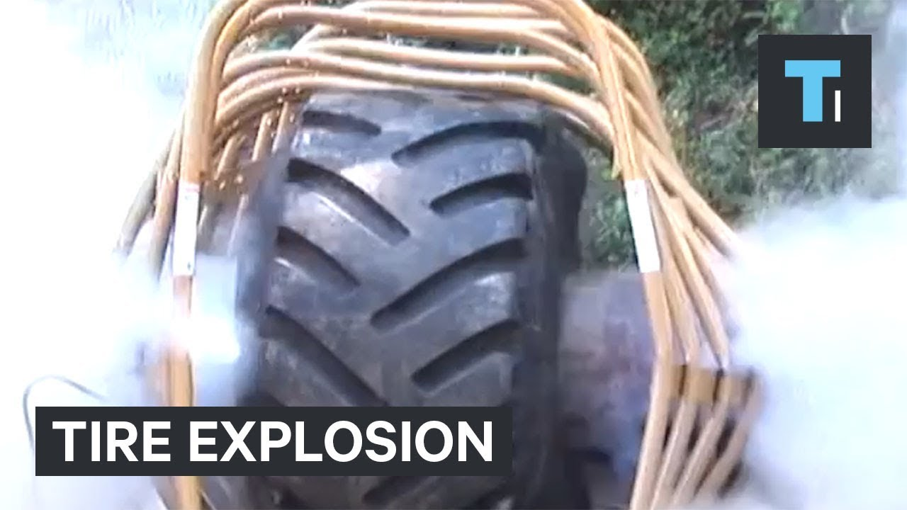 These tire blowouts are so dangerous they have to be kept in a cage