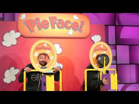 Ashton Kutcher and Danny Masterson Play Pie Face