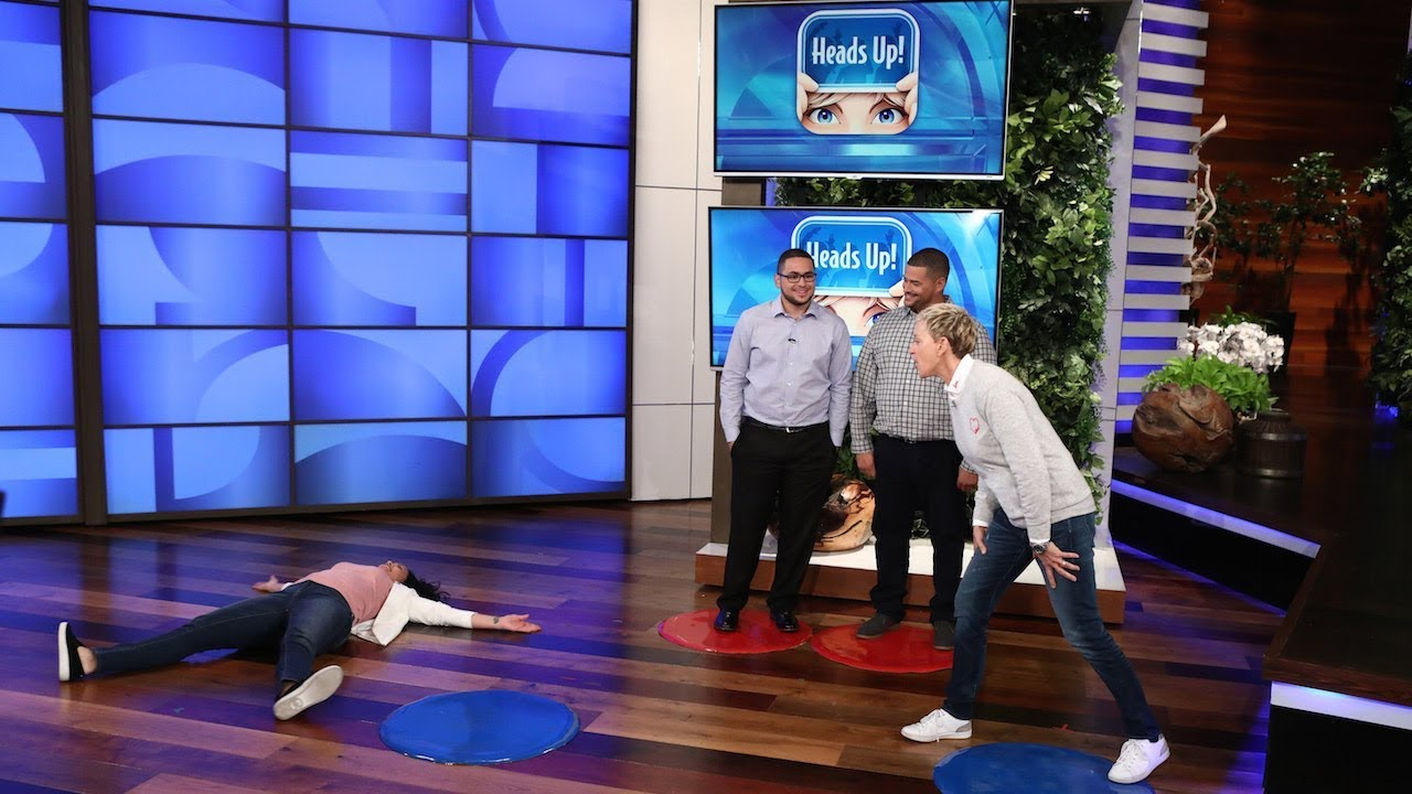 Ellen Plays 'Heads Up!' with Las Vegas Nurse Zully Hernandez