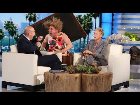 Ellen Scares Matt Lauer!