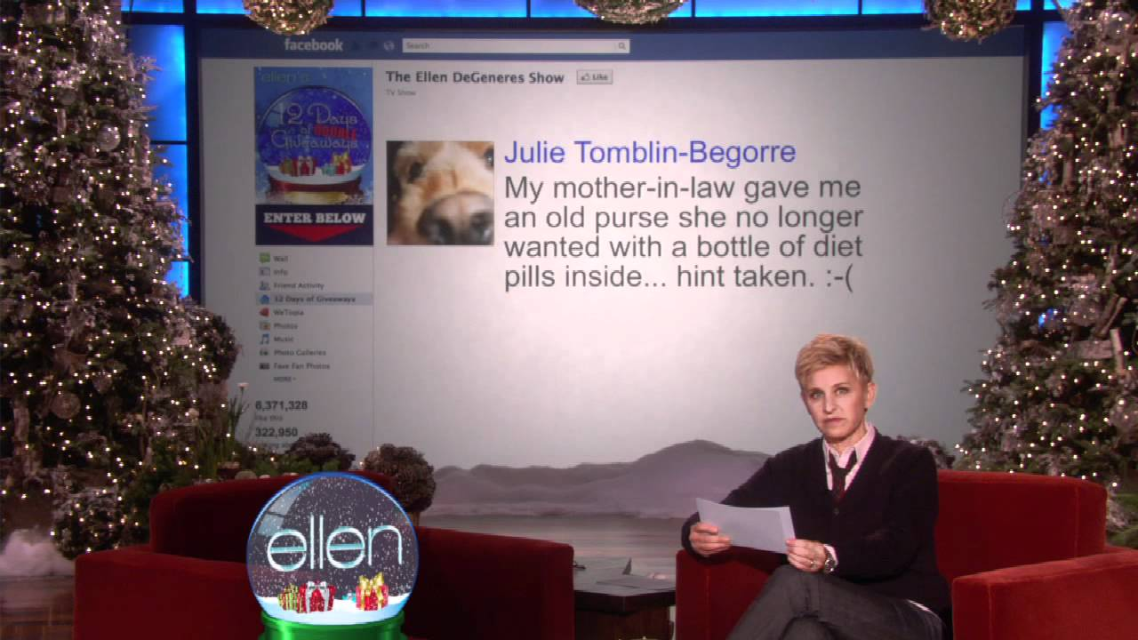 Ellen's Facebook Fans Got Terrible Gifts