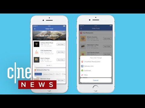Facebook lets you order food for your face hole (CNET News)