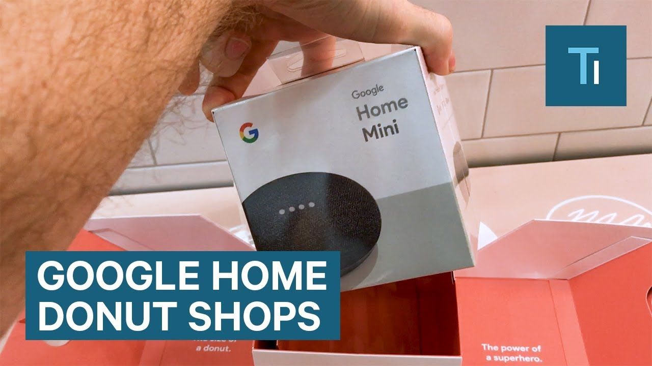 Google Home Mini giveaways at pop-up donut shops across the US