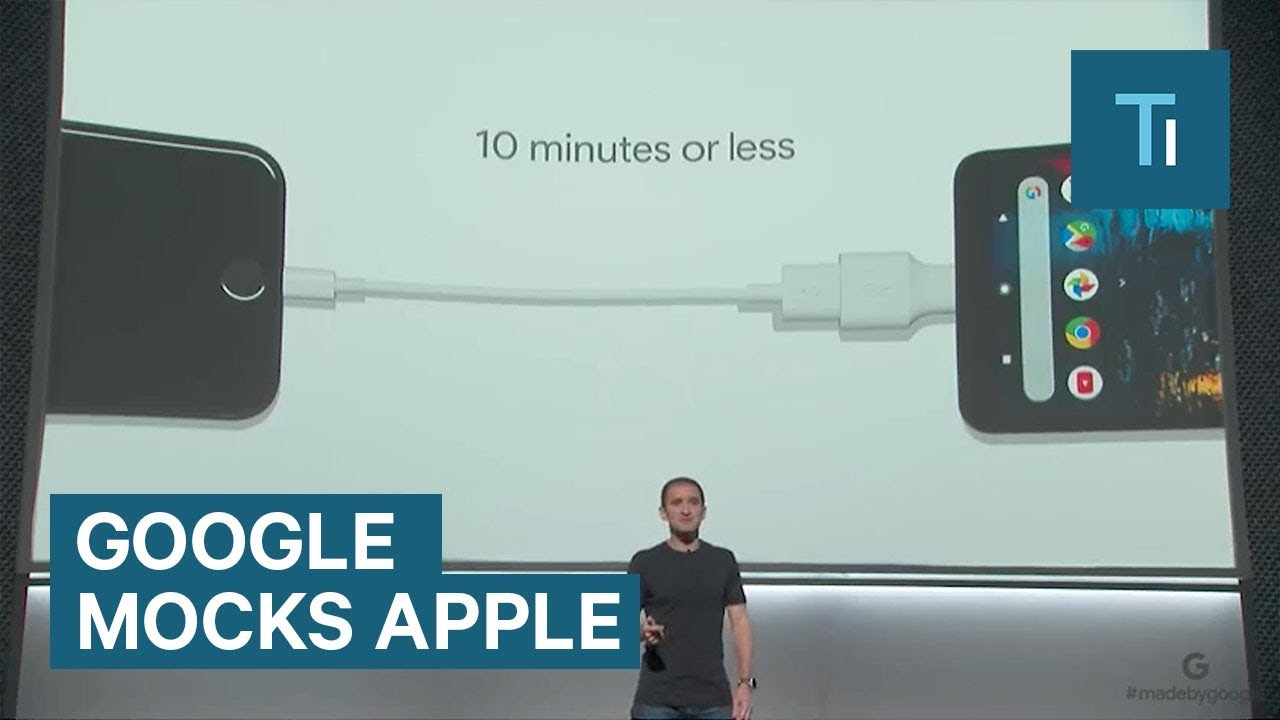 Google made fun of Apple products – even the new iPhone