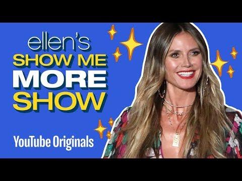 Heidi Klum Watches Her Past Ellen Appearances