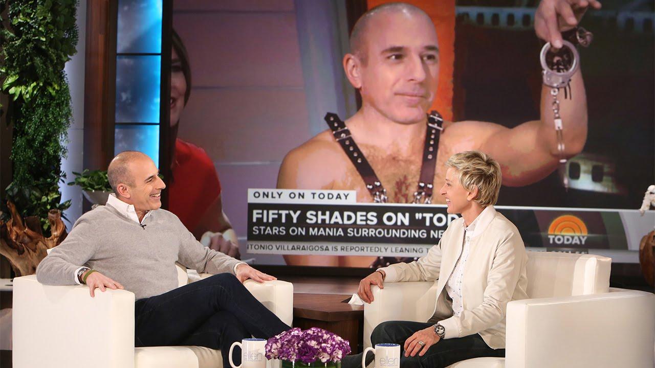 Matt Lauer Confronts Ellen About Her '50 Shades' Prank