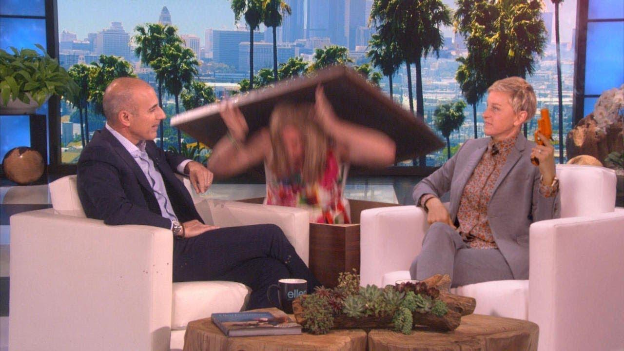 Matt Lauer Thinks He's Figured Out Ellen's Scare Signals