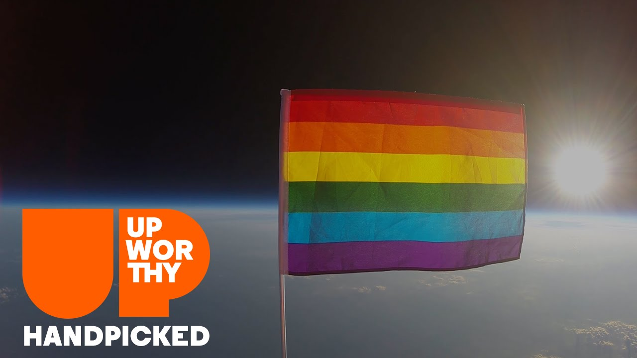 They sent an LGBTQ flag into space to promote equality in this world and beyond.