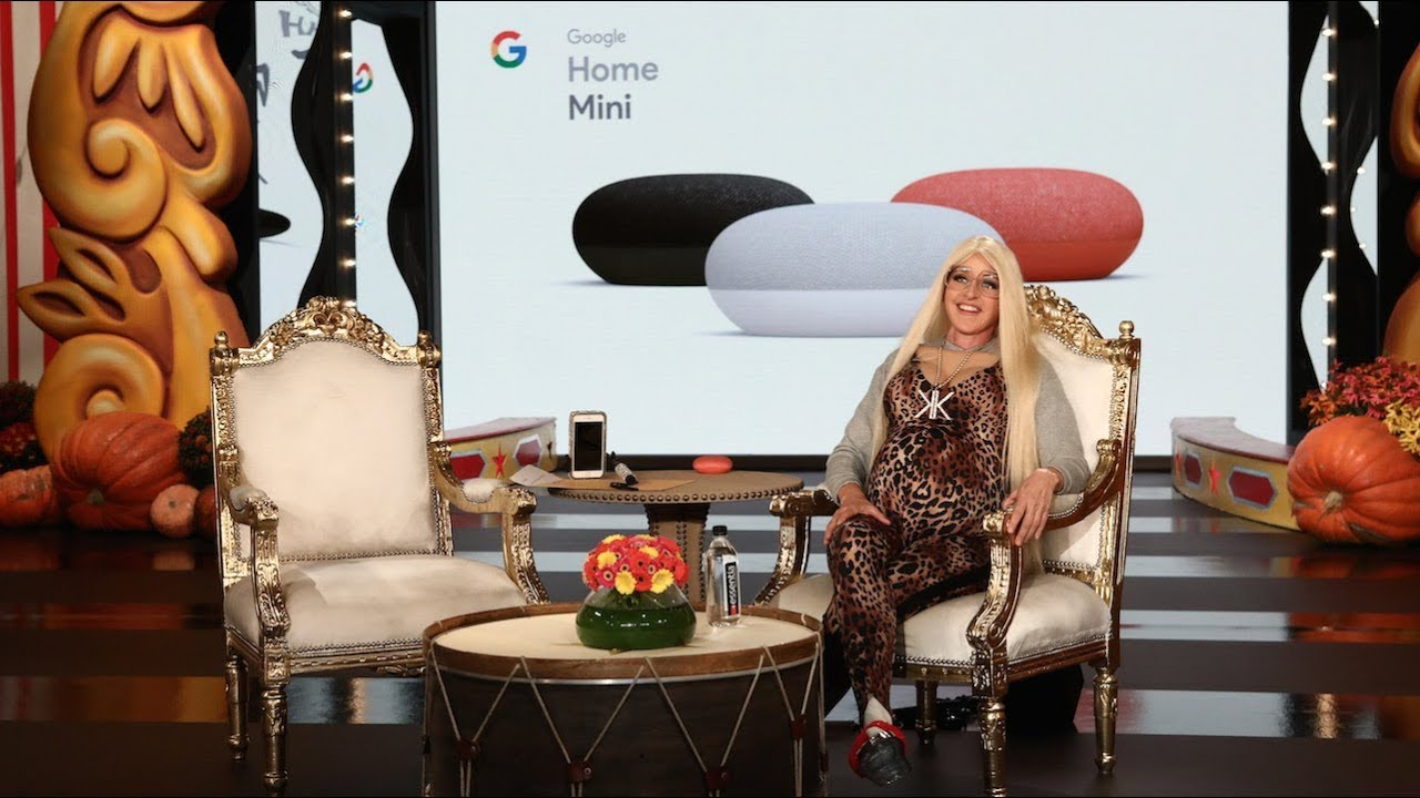 Google Home Haunts Ellen's Studio