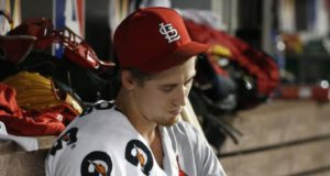 Cardinals pitcher Luke Weaver slices finger on aluminum foil covering food tray, misses st...