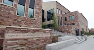 The new Center for Academic Success & Engagement building at the University of Colorado in Boulder.