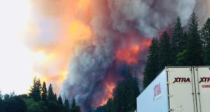 Trucks abandoned as California wildfire shuts down I-5 | Travel