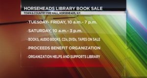 Organization to sell books and entertainment to help benefit the Horseheads Free Library