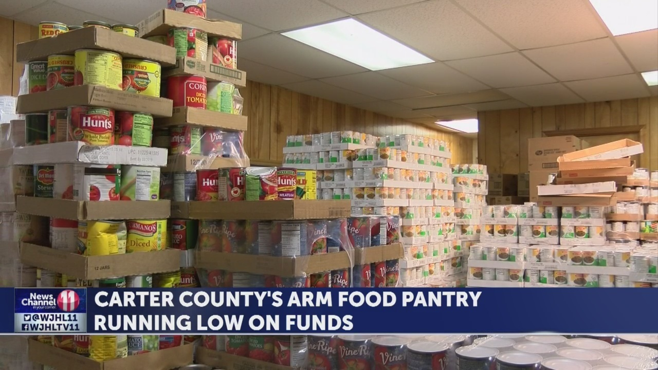 Carter County's A.R.M Food Pantry is running low on funds ahead of the holidays