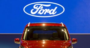 A Ford 2019 Transit Connect Wagon sits on display during the Chicago Auto Show in Chicago, Illinois, on Thursday, Feb. 8, 2018.