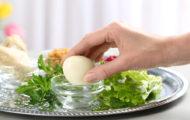 Seder hard boiled egg