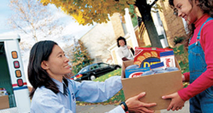 """Letter carriers """"Stamp Out Hunger Food Drive"""""""