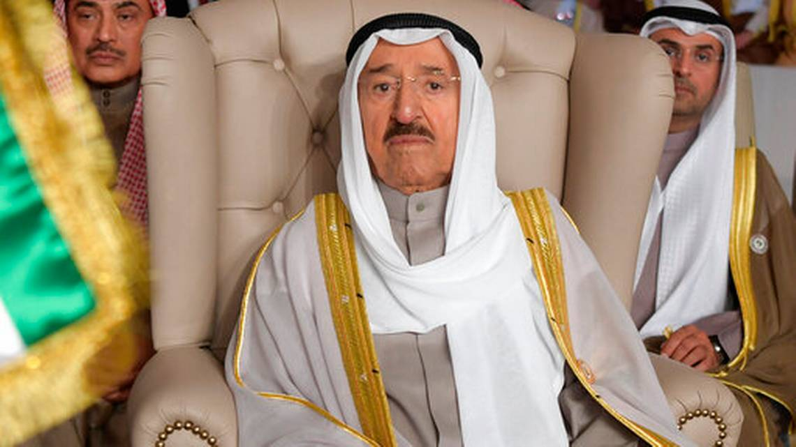 Kuwait's emir, 90, appears for first time after health scare