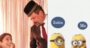 Smriti Irani minions video | Smriti Irani's funny video of herself and husband Zubin as mi...