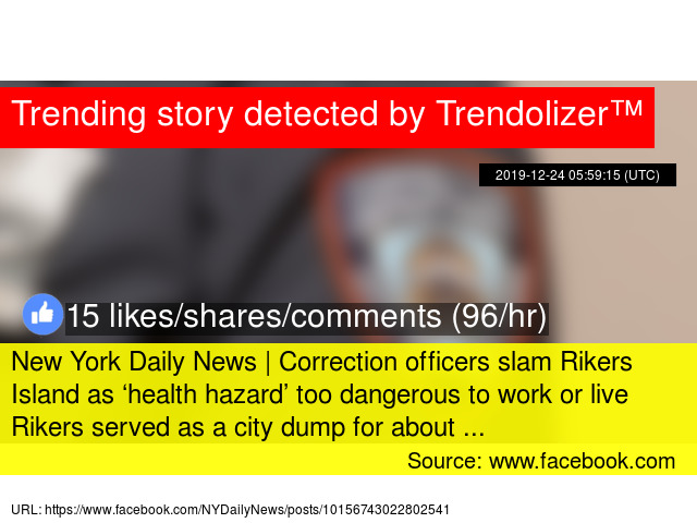 Correction officers slam Rikers Island as dangerous 'health hazard' – New York Daily News