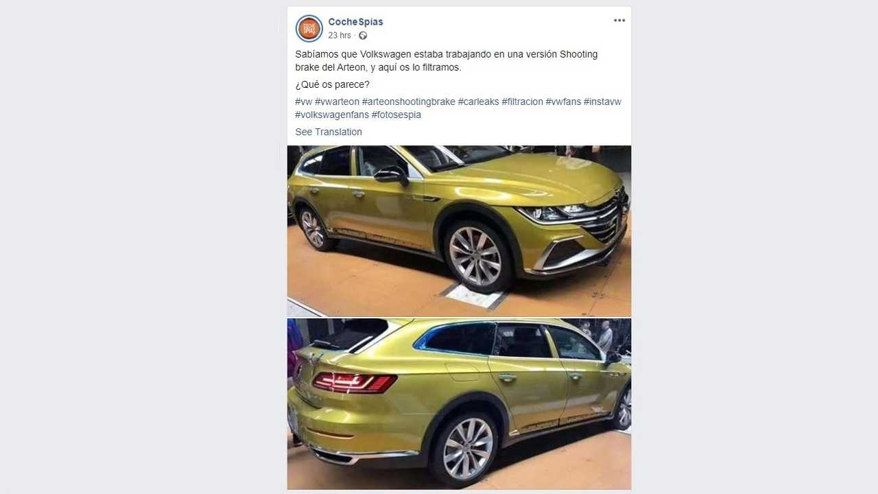 VW CC Travel Edition Leaks As Arteon Wagon For China, For Now
