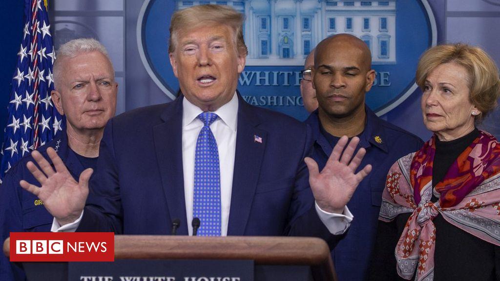 Coronavirus: Dow erases Trump presidency gains