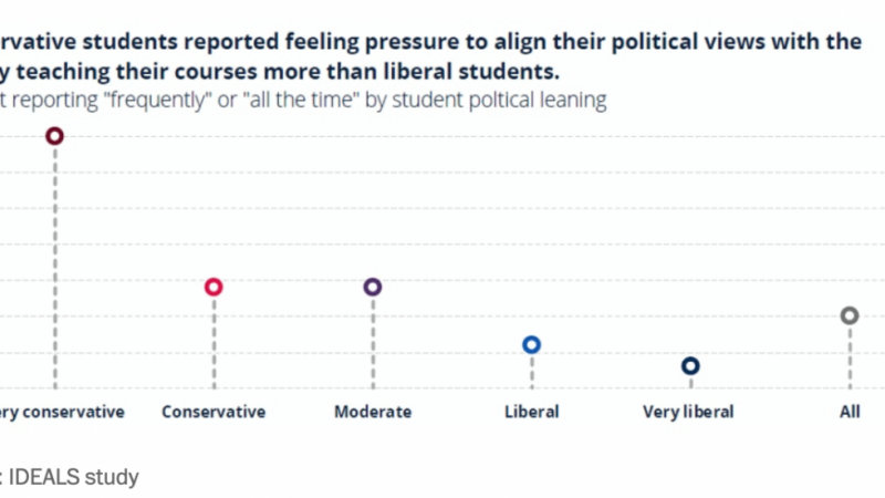 Some students do feel political pressure from their professors, but few change their views