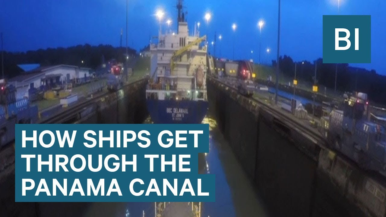 Time-lapse Shows How Ships Get Through The Panama Canal