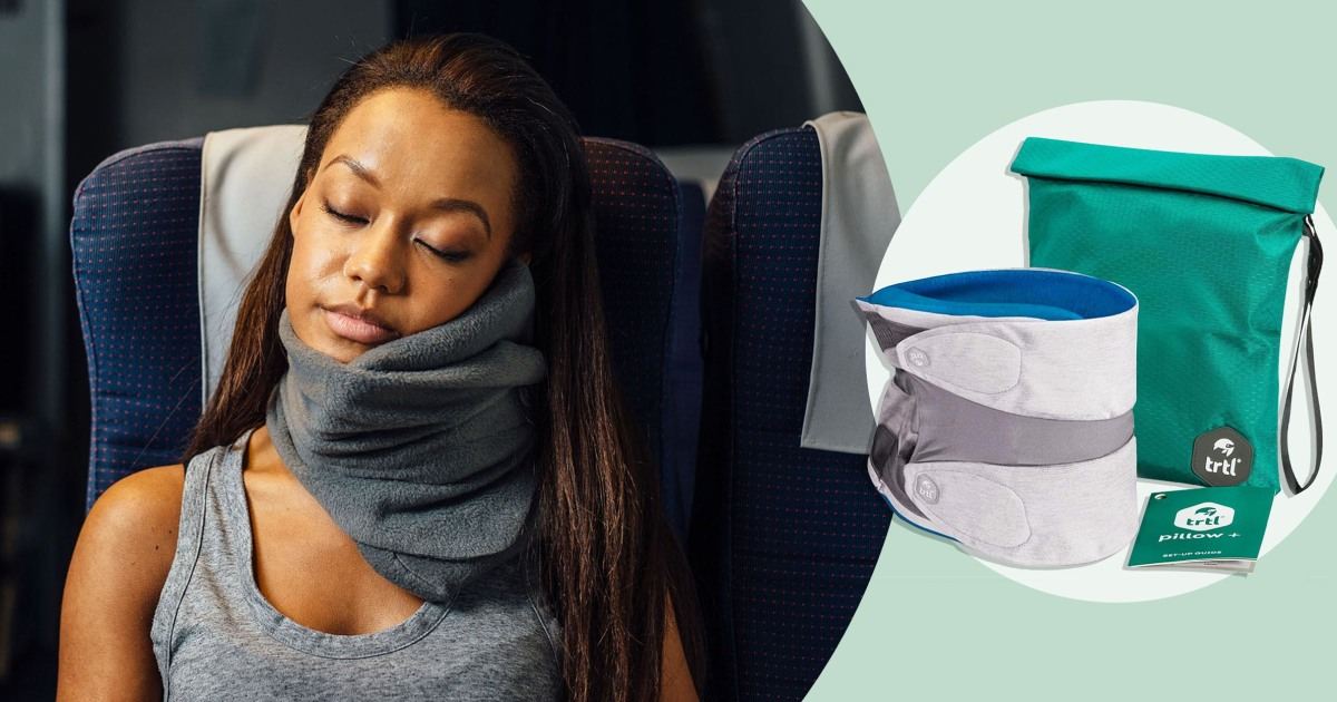 Trtl's travel pillows are on sale on Amazon today only